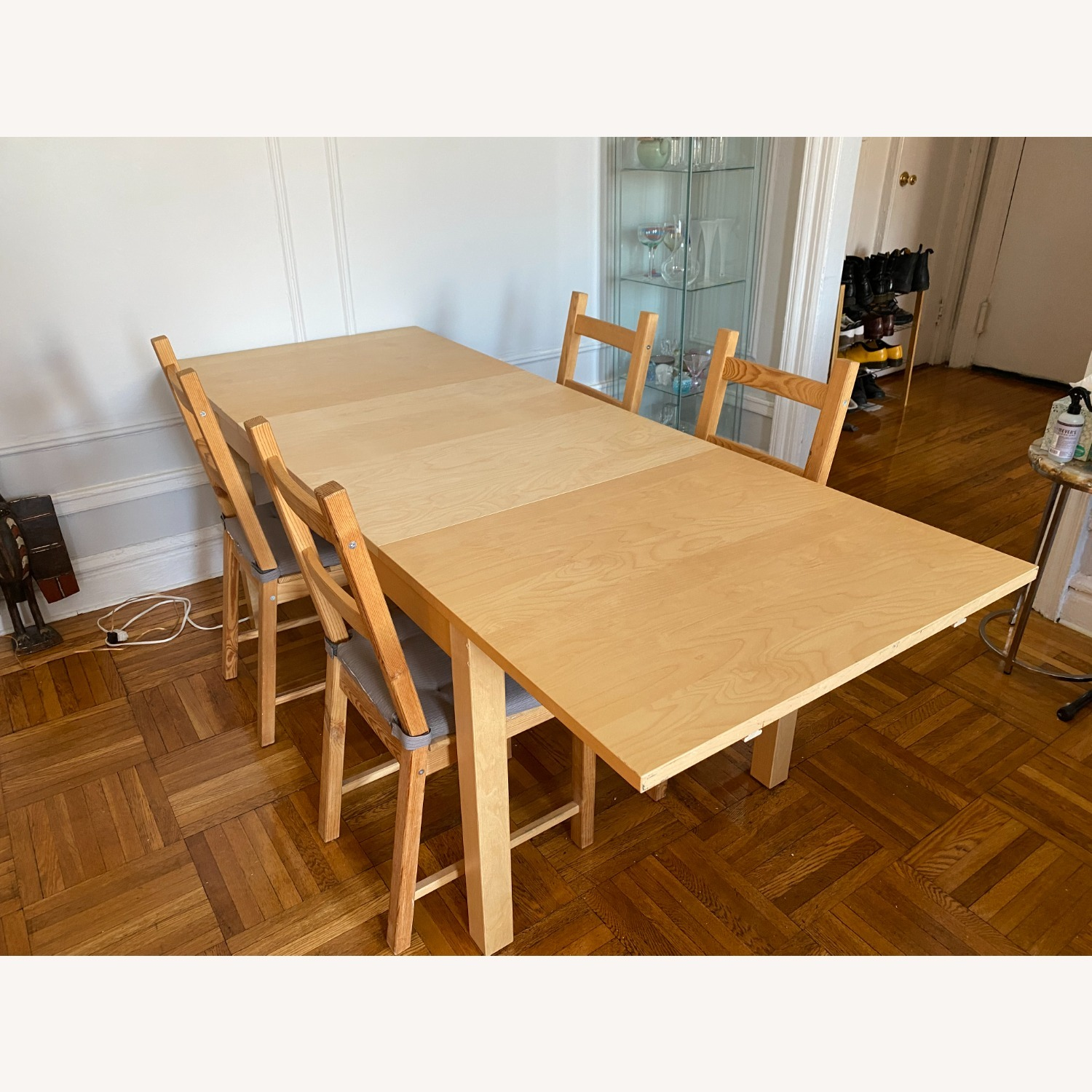 IKEA Wooden Dining Set with Extendable Table - image-6