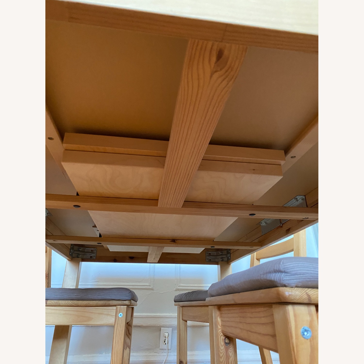 IKEA Wooden Dining Set with Extendable Table - image-8