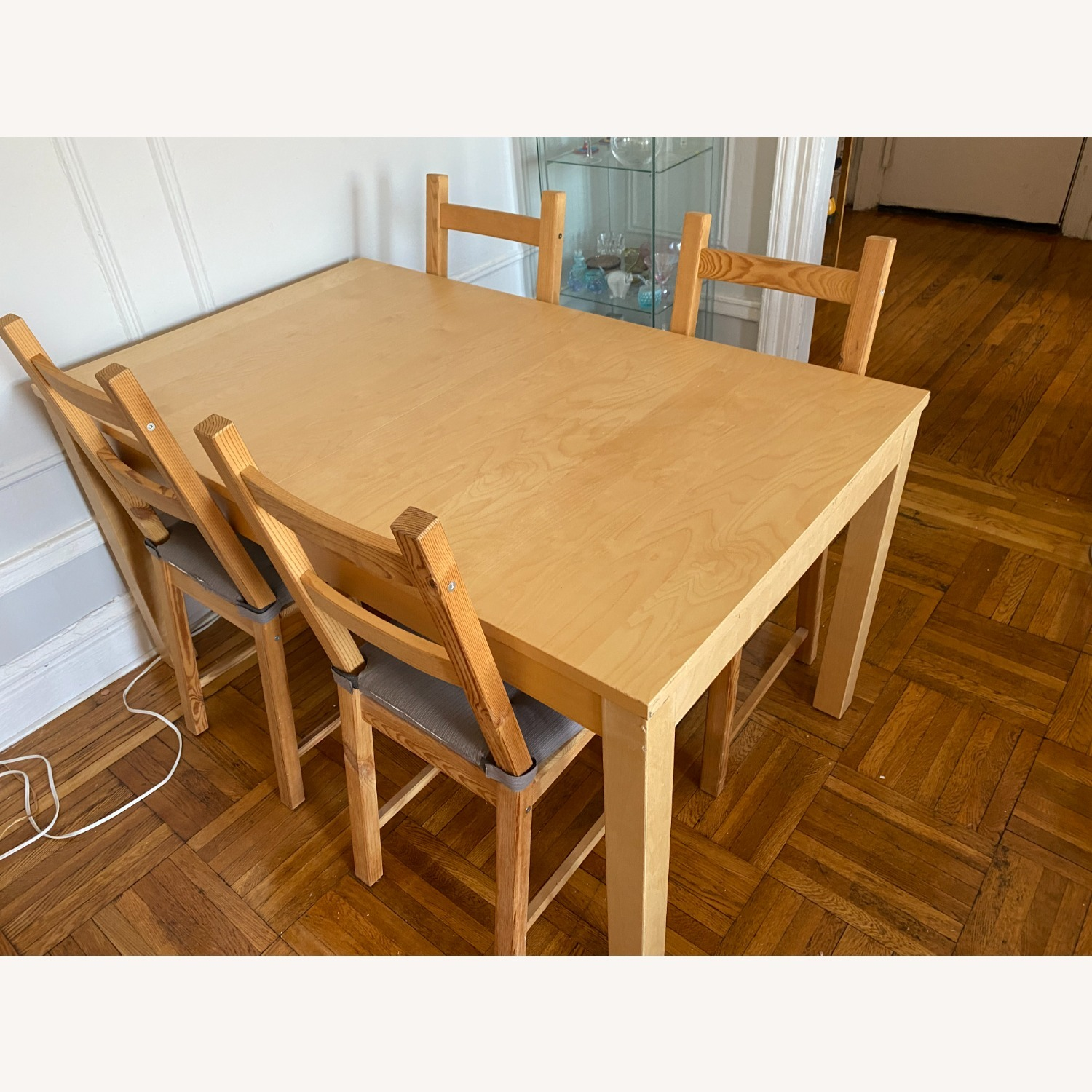 IKEA Wooden Dining Set with Extendable Table - image-2
