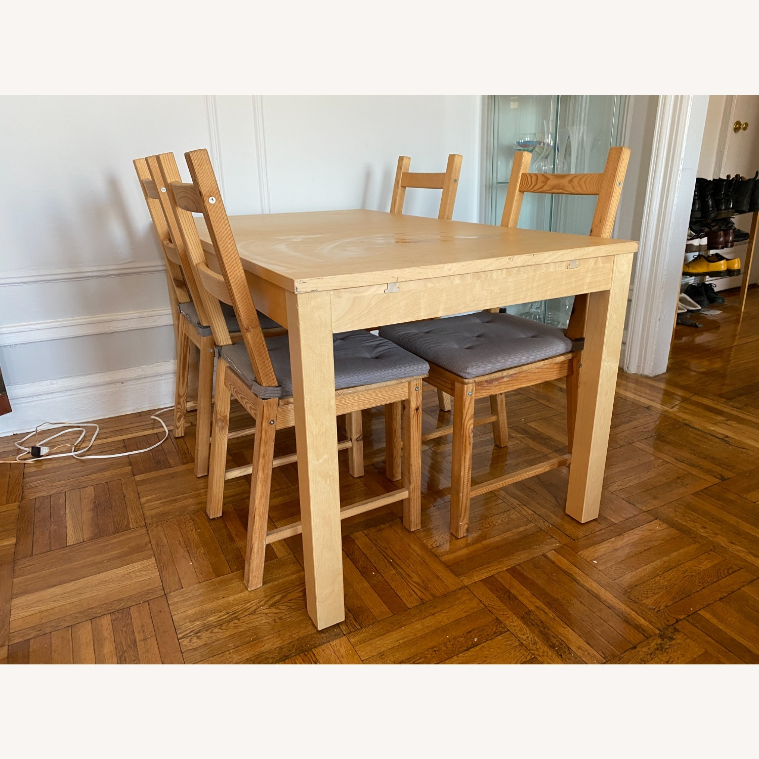 IKEA Wooden Dining Set with Extendable Table - image-3