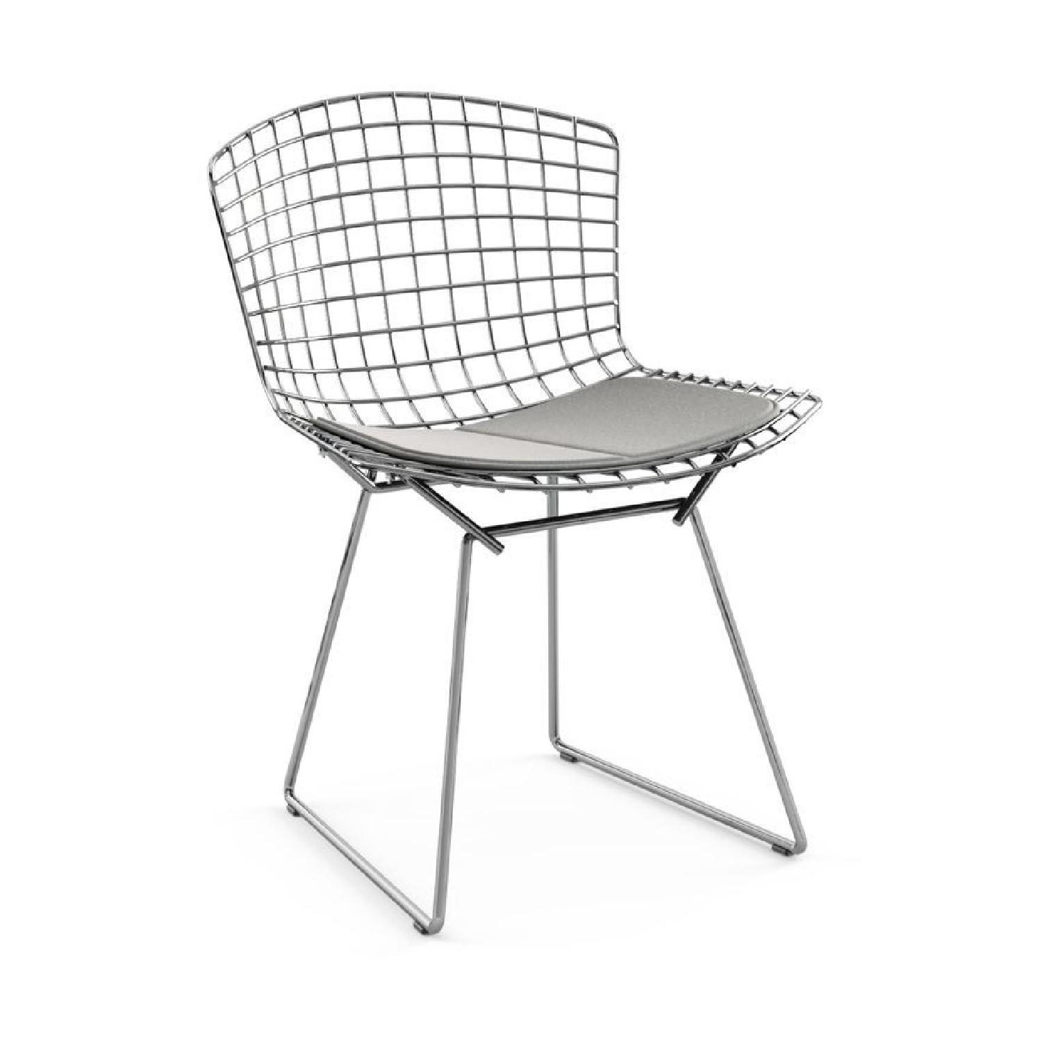 Knoll Pair of Midcentury Knoll Bertoia Wire Side Chairs - image-8