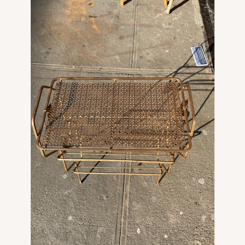 Vintage 1970s Bar Cart/Vine Rack - image-12