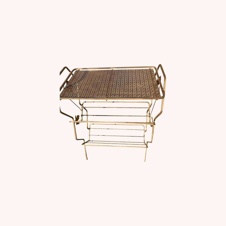 Vintage 1970s Bar Cart/Vine Rack - image-0