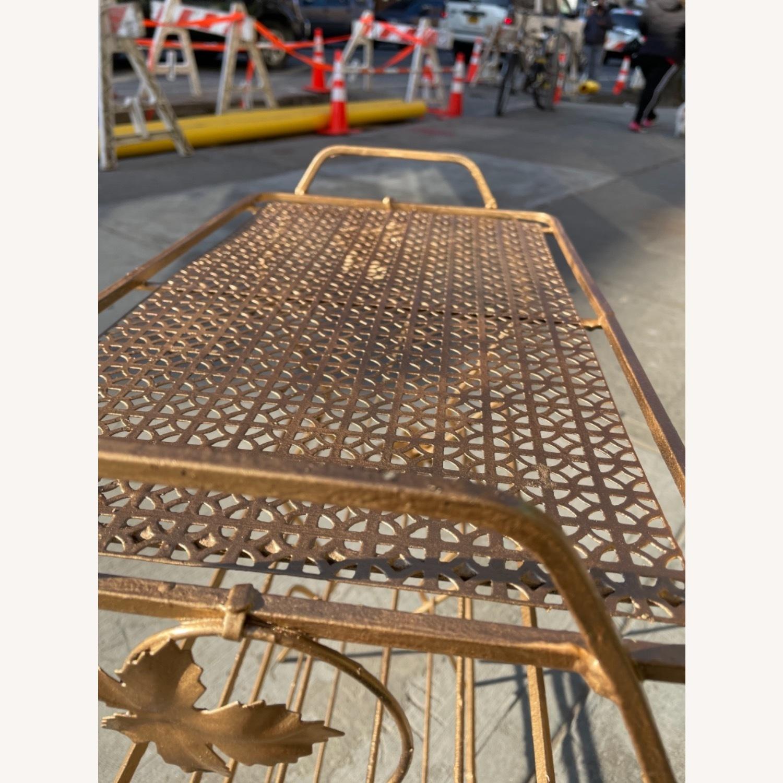 Vintage 1970s Bar Cart/Vine Rack - image-5