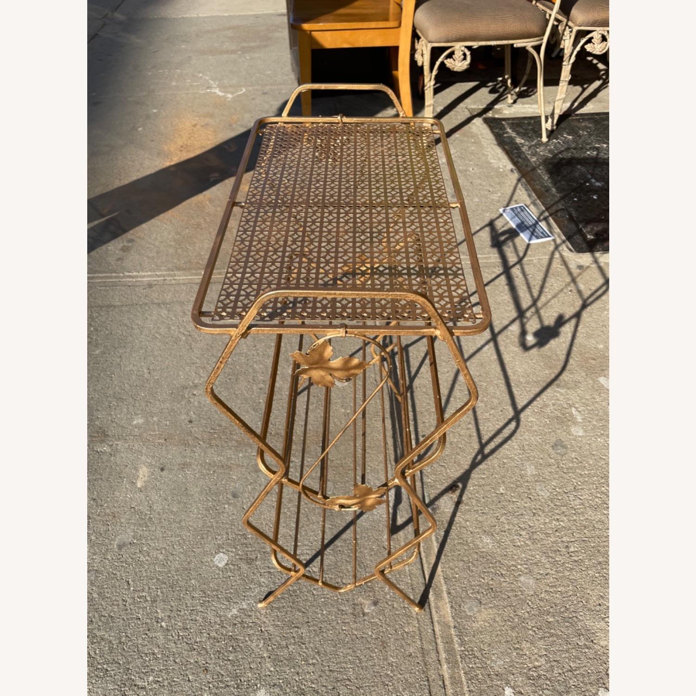 Vintage 1970s Bar Cart/Vine Rack - image-1