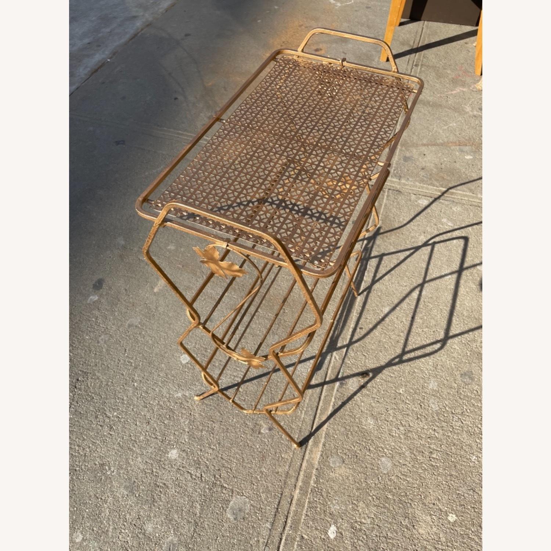Vintage 1970s Bar Cart/Vine Rack - image-9
