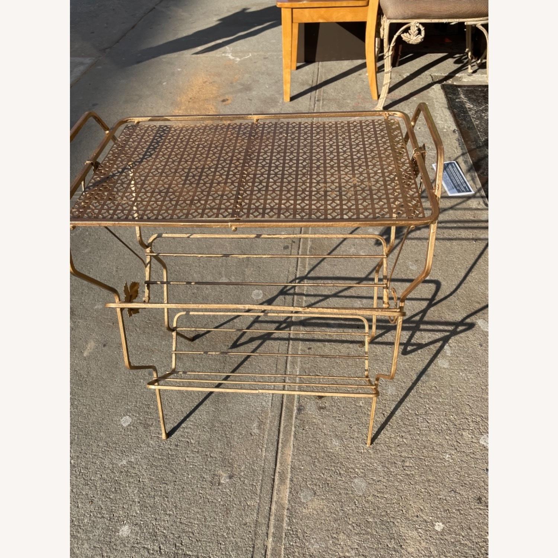 Vintage 1970s Bar Cart/Vine Rack - image-15