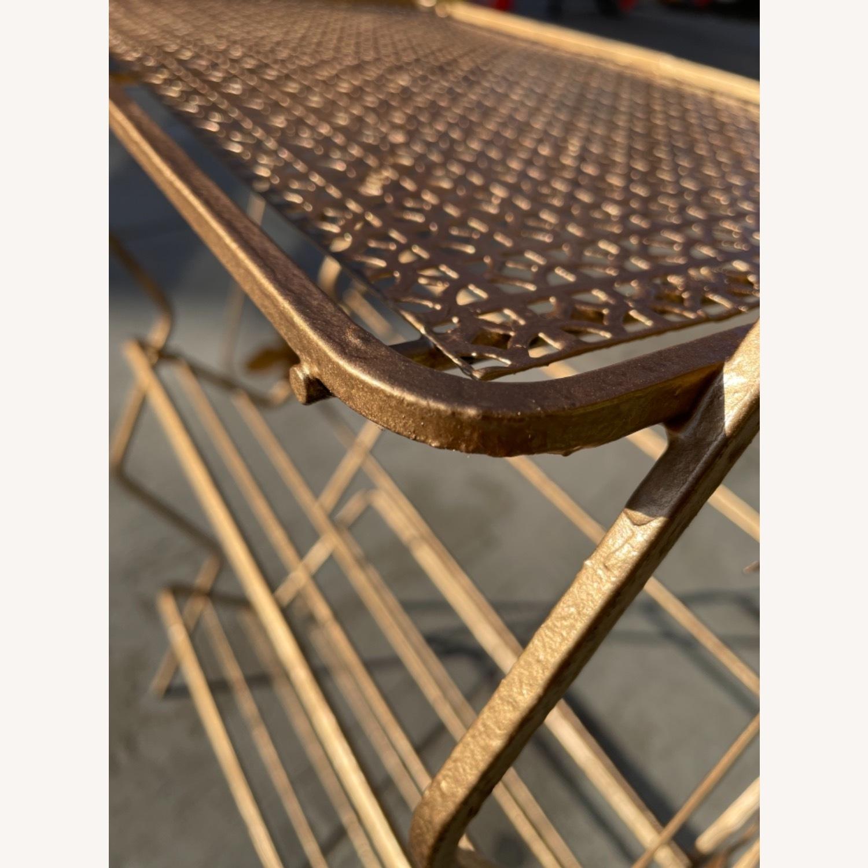 Vintage 1970s Bar Cart/Vine Rack - image-8