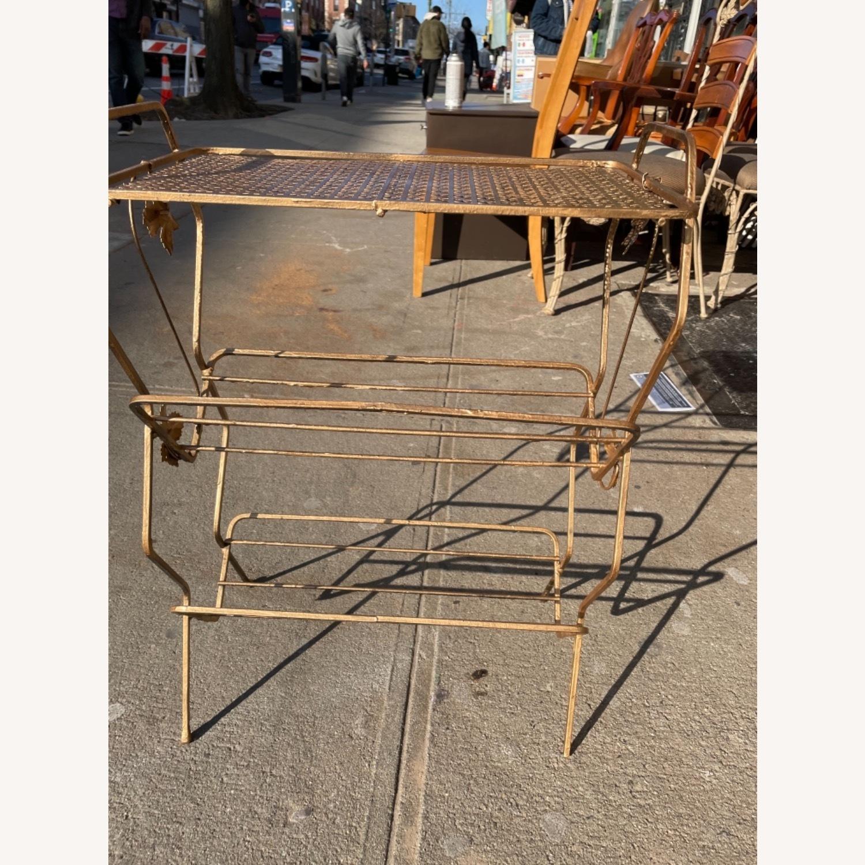 Vintage 1970s Bar Cart/Vine Rack - image-11