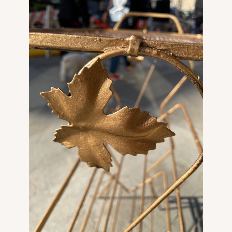 Vintage 1970s Bar Cart/Vine Rack - image-7