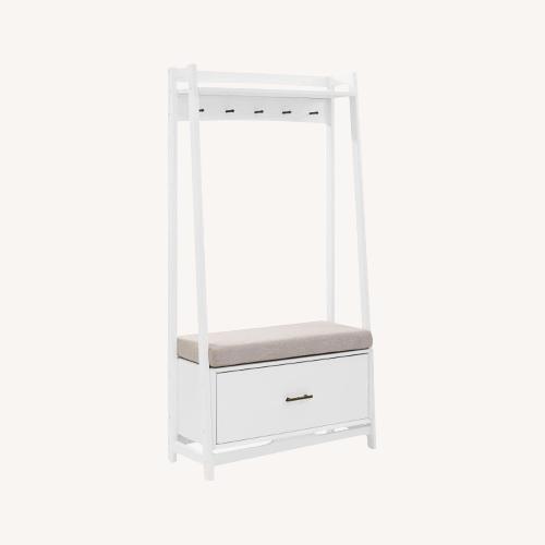 Used Crosley Furniture White Hall Tree for sale on AptDeco