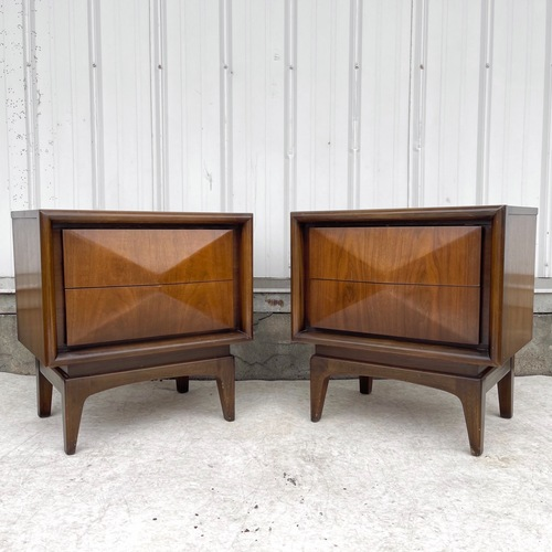 Used Mid-Century Diamond Front Nightstands for sale on AptDeco