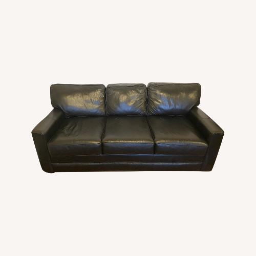 Used Jennifer Convertibles Modern Leather Sofa for sale on AptDeco