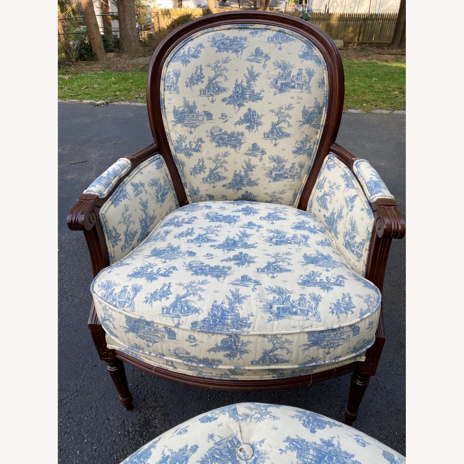 Bergere Chair and Ottoman - image-2