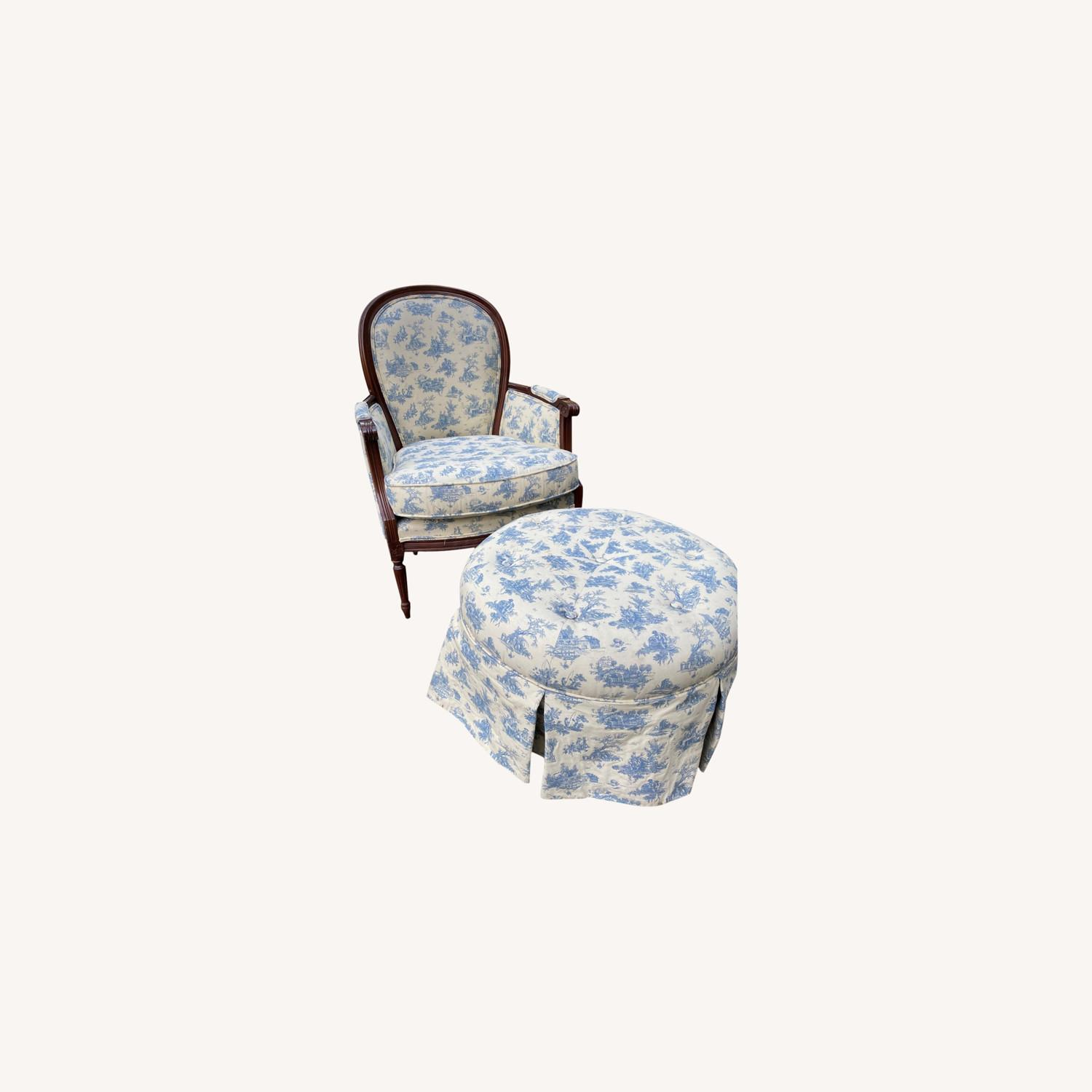Bergere Chair and Ottoman - image-0