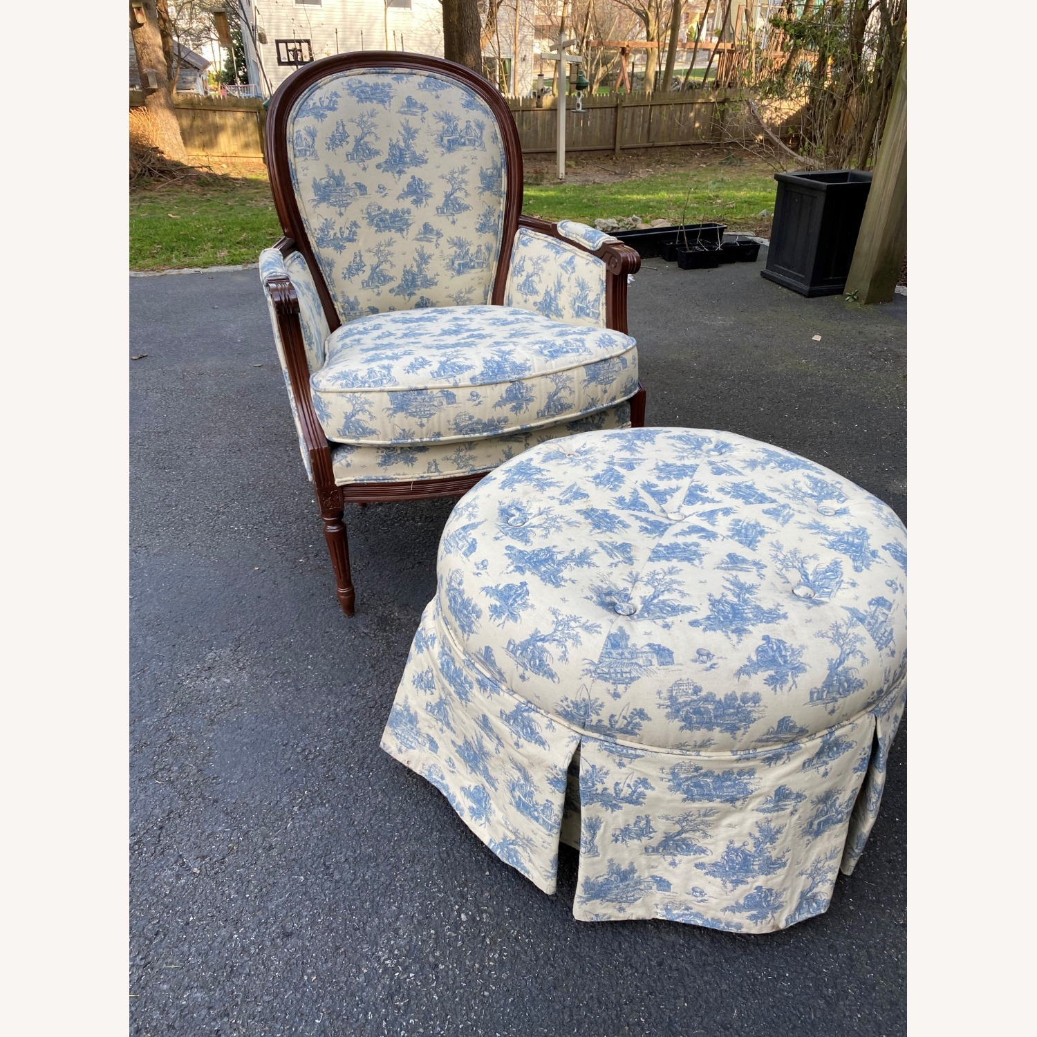 Bergere Chair and Ottoman - image-1