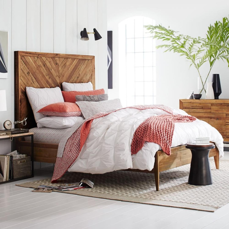 West Elm Alexa Reclaimed Wood Bed - King Size - image-1