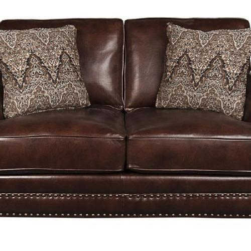 Used Bernhardt Leather Loveseat for sale on AptDeco
