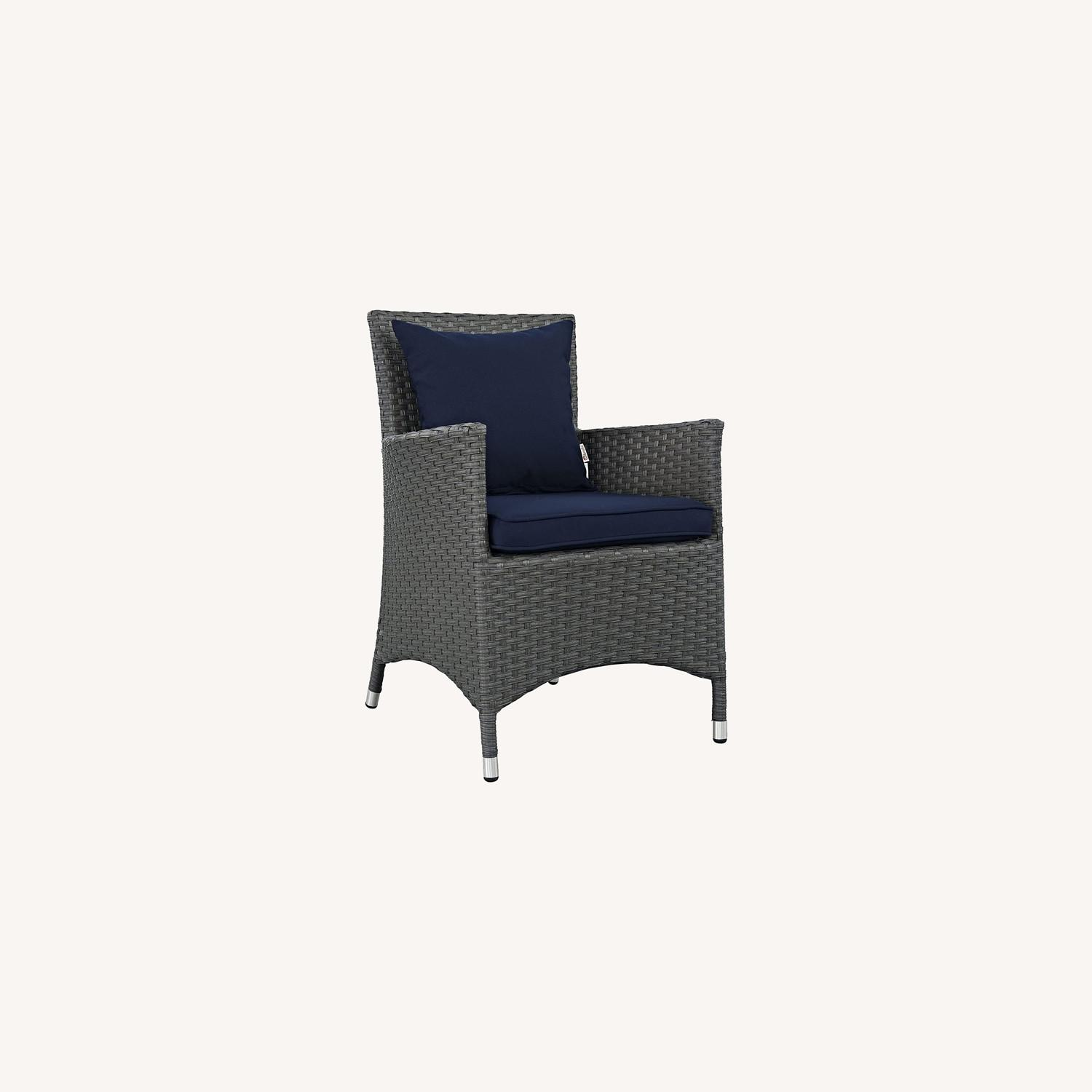 Modern 4-Piece Dining Set In Canvas Navy Finish - image-6
