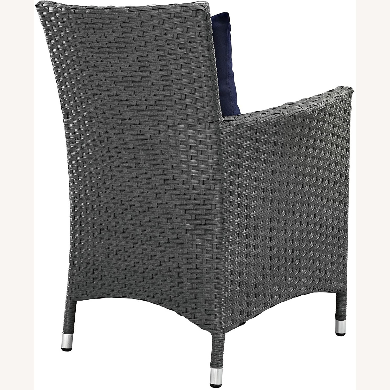 Modern 4-Piece Dining Set In Canvas Navy Finish - image-3
