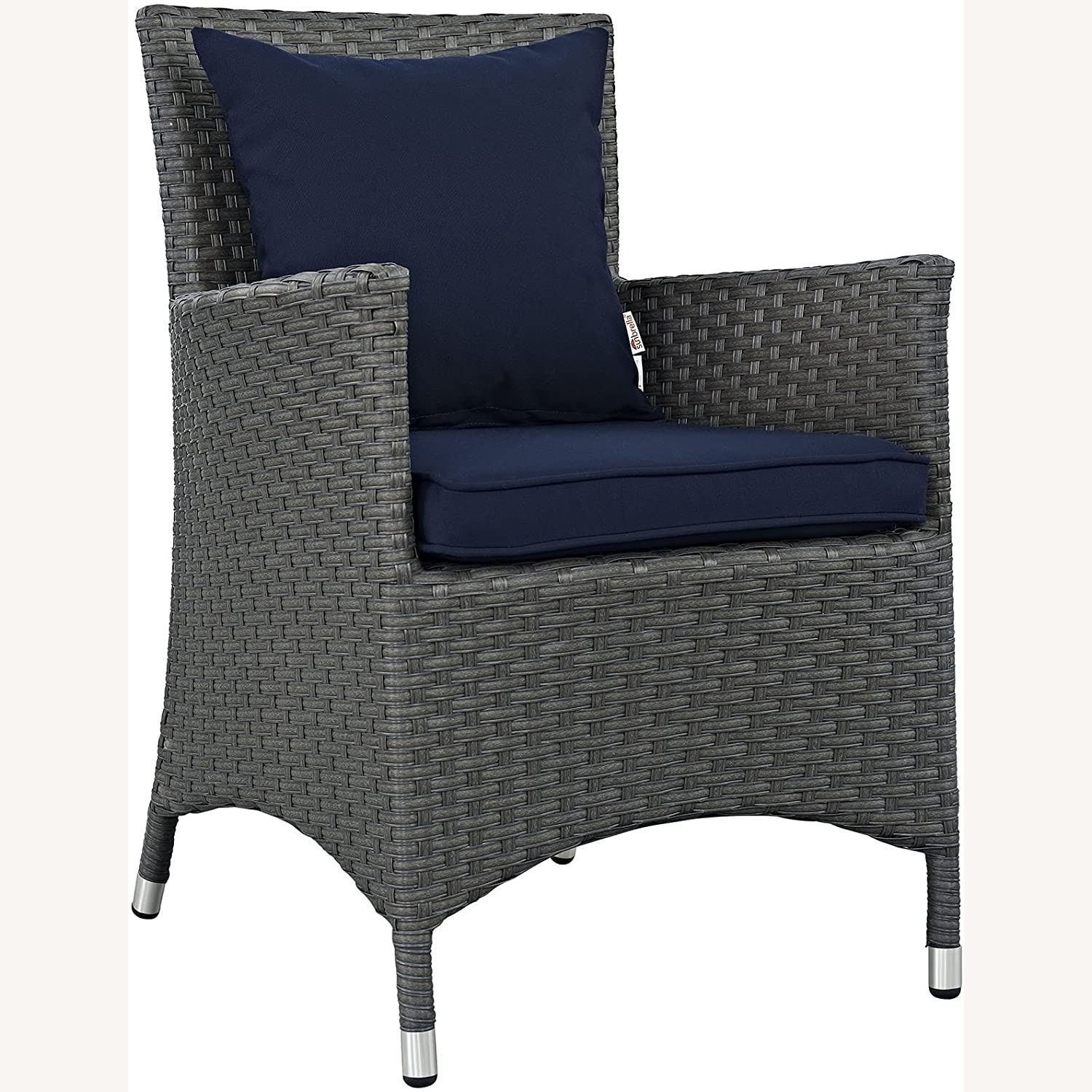 Modern 4-Piece Dining Set In Canvas Navy Finish - image-1
