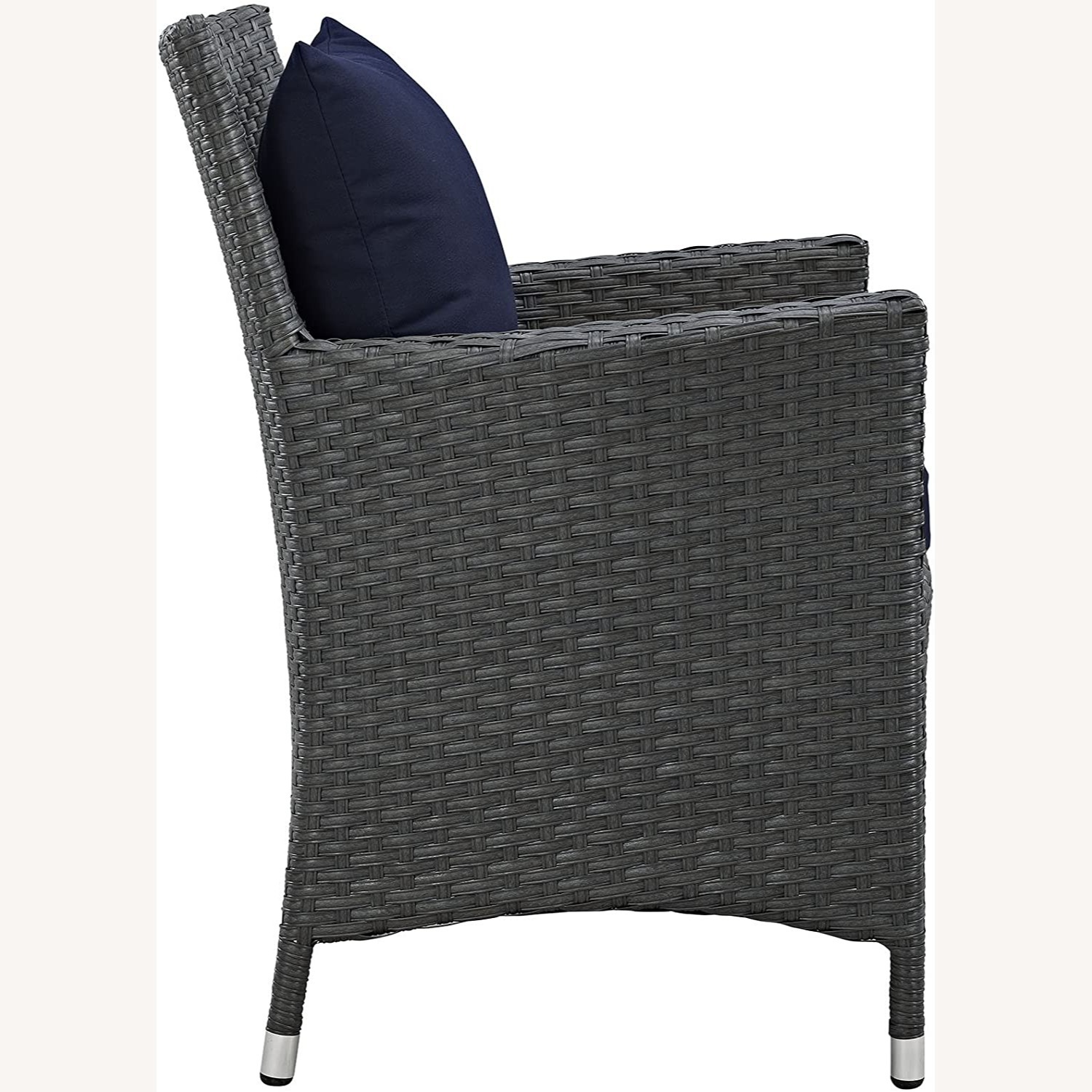 Modern 4-Piece Dining Set In Canvas Navy Finish - image-2