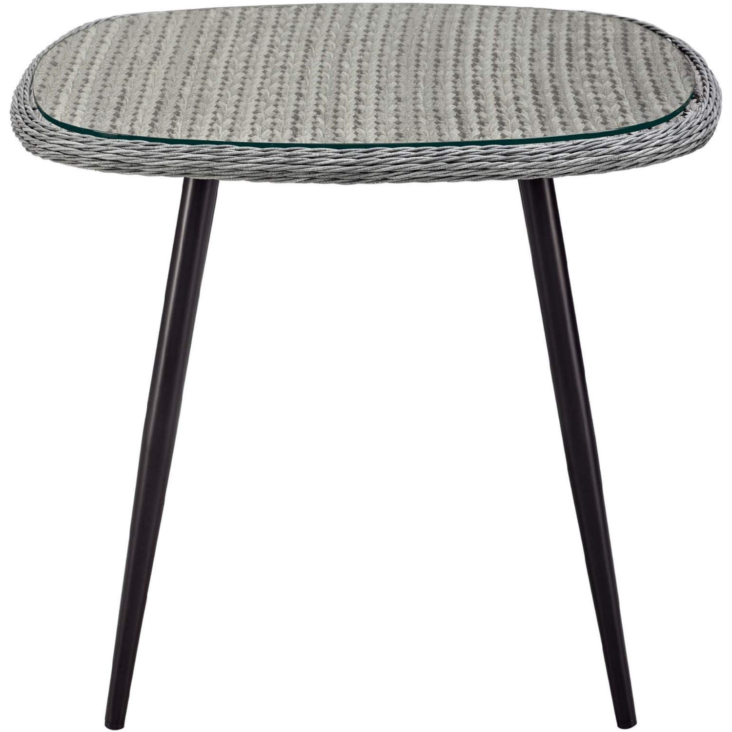Modern 3-Piece Dining Set In Gray Rattan Weave - image-6