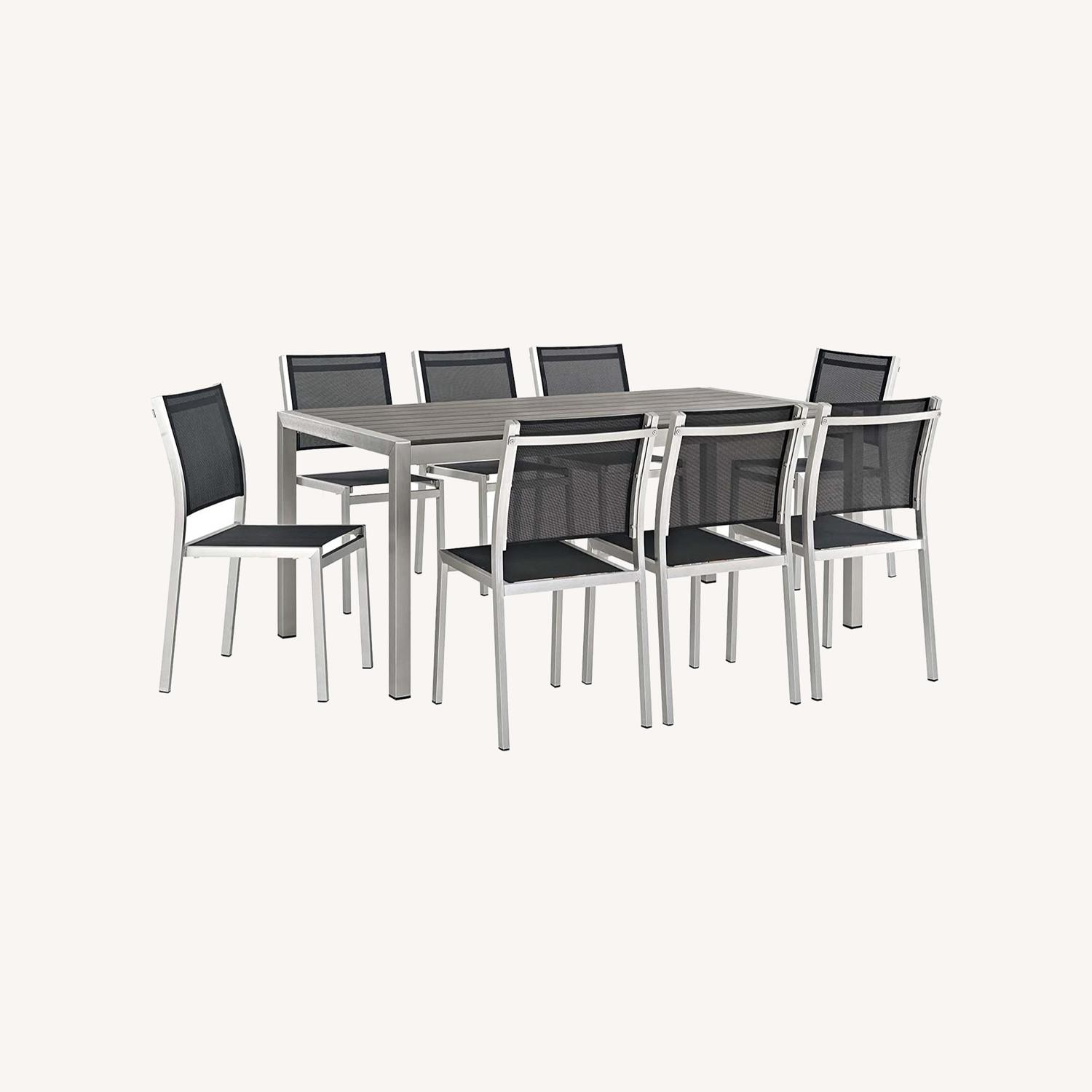 Modern 9-Piece Dining Set In Silver & Black - image-6