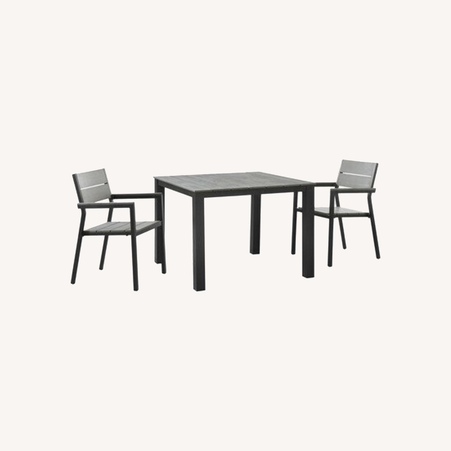 Modern 3-Piece Outdoor Dining Set In Brown & Gray - image-5
