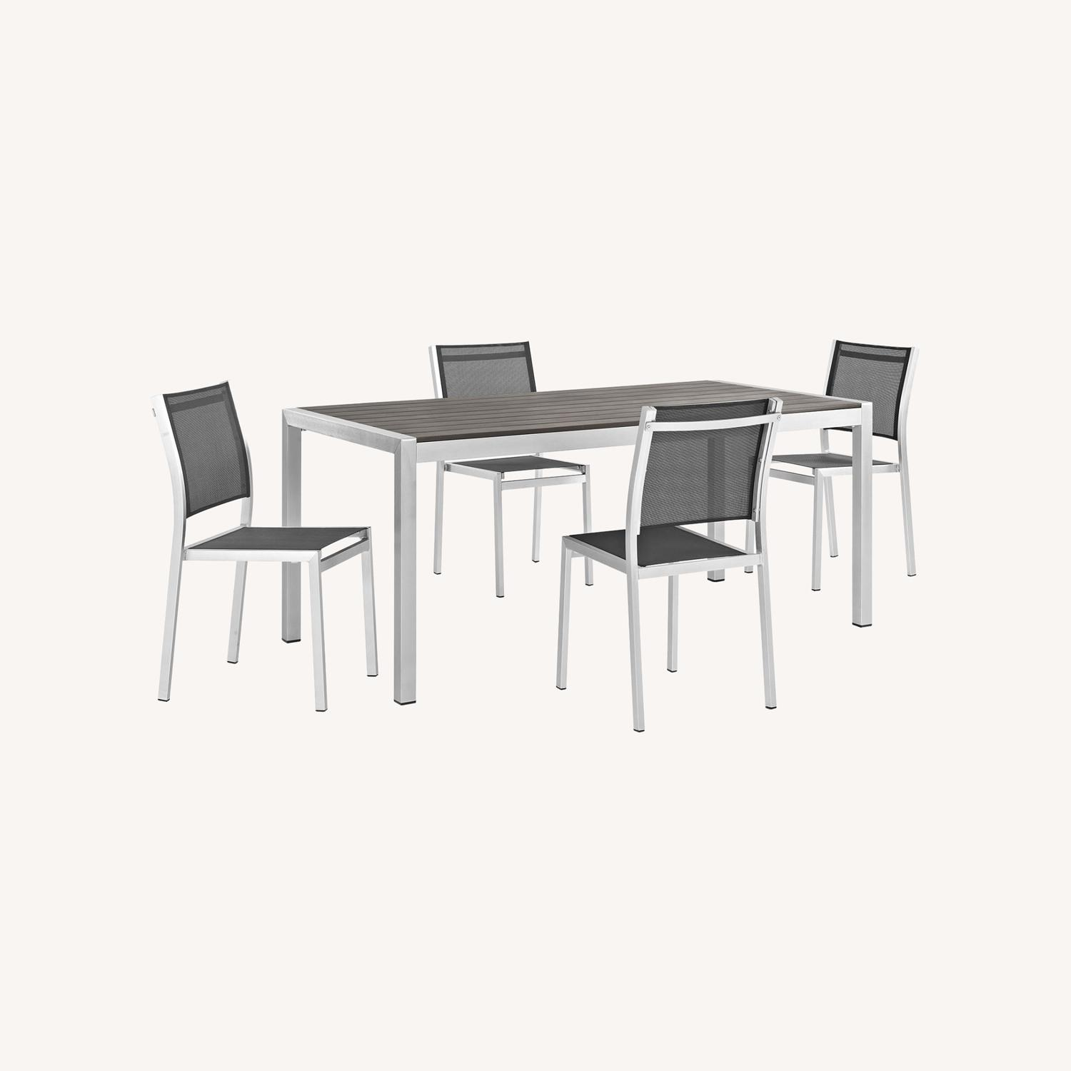 Modern 5-Piece Outdoor Dining Set In Black - image-6