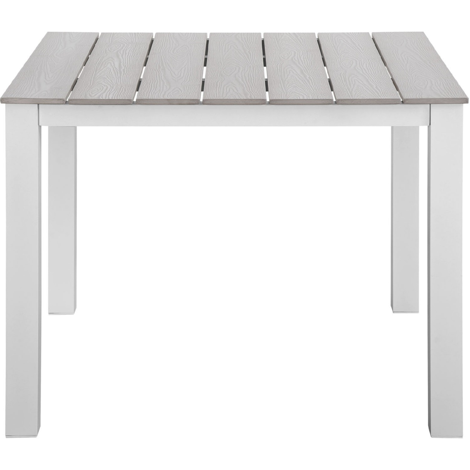 Modern 3-Piece Dining Set In White & Gray - image-5