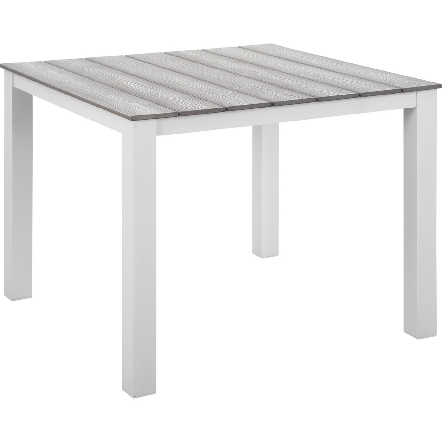 Modern 3-Piece Dining Set In White & Gray - image-4