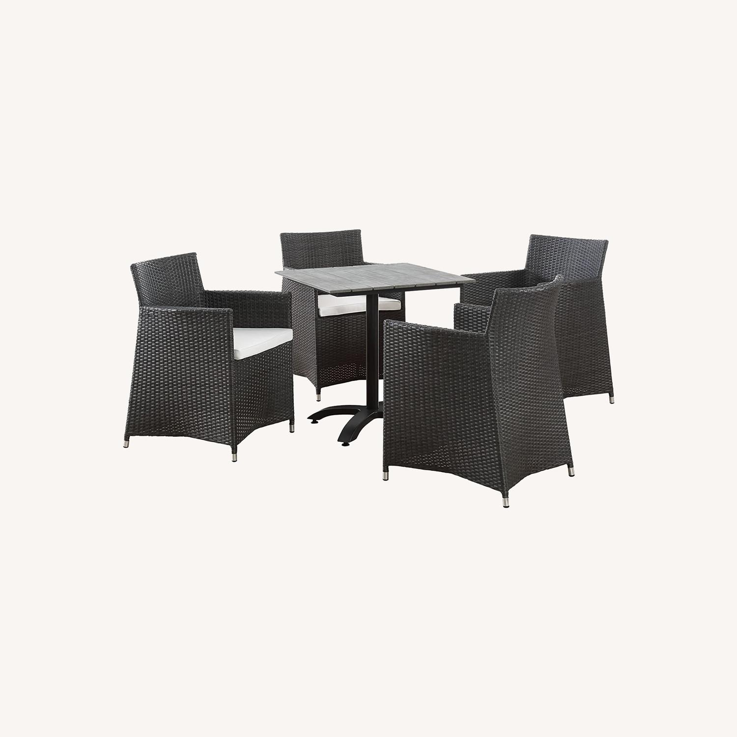 Modern 5-Piece Dining Set In White & Brown - image-7