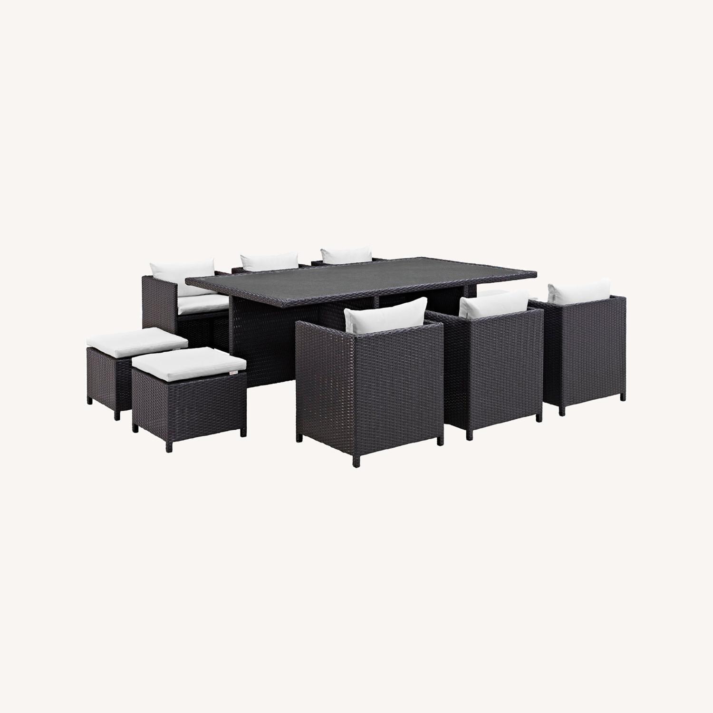 Modern 11-Piece Dining Set In Espresso Finish - image-4