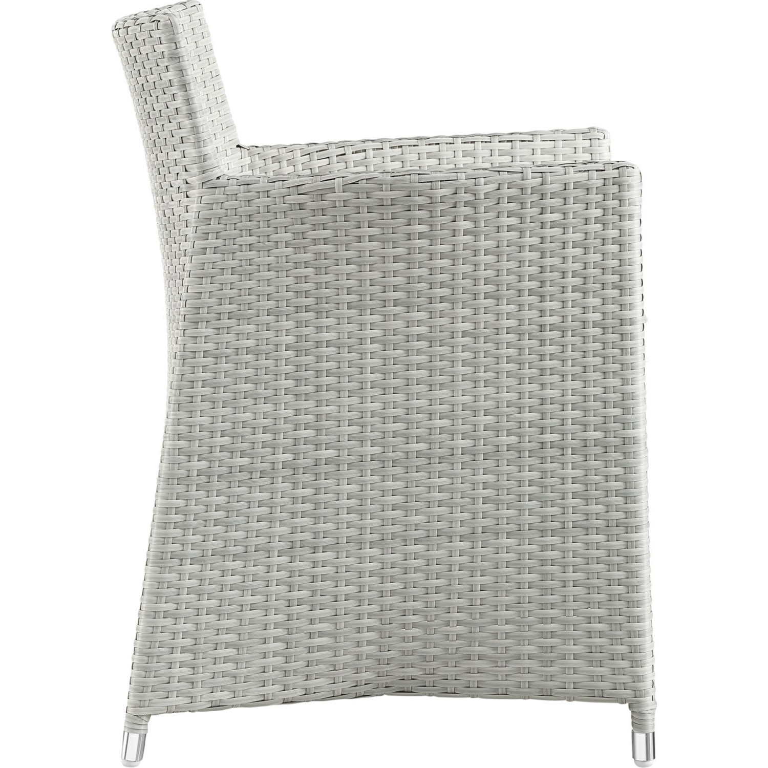 Modern 5-Piece Dining Set In Gray Rattan Weave - image-2