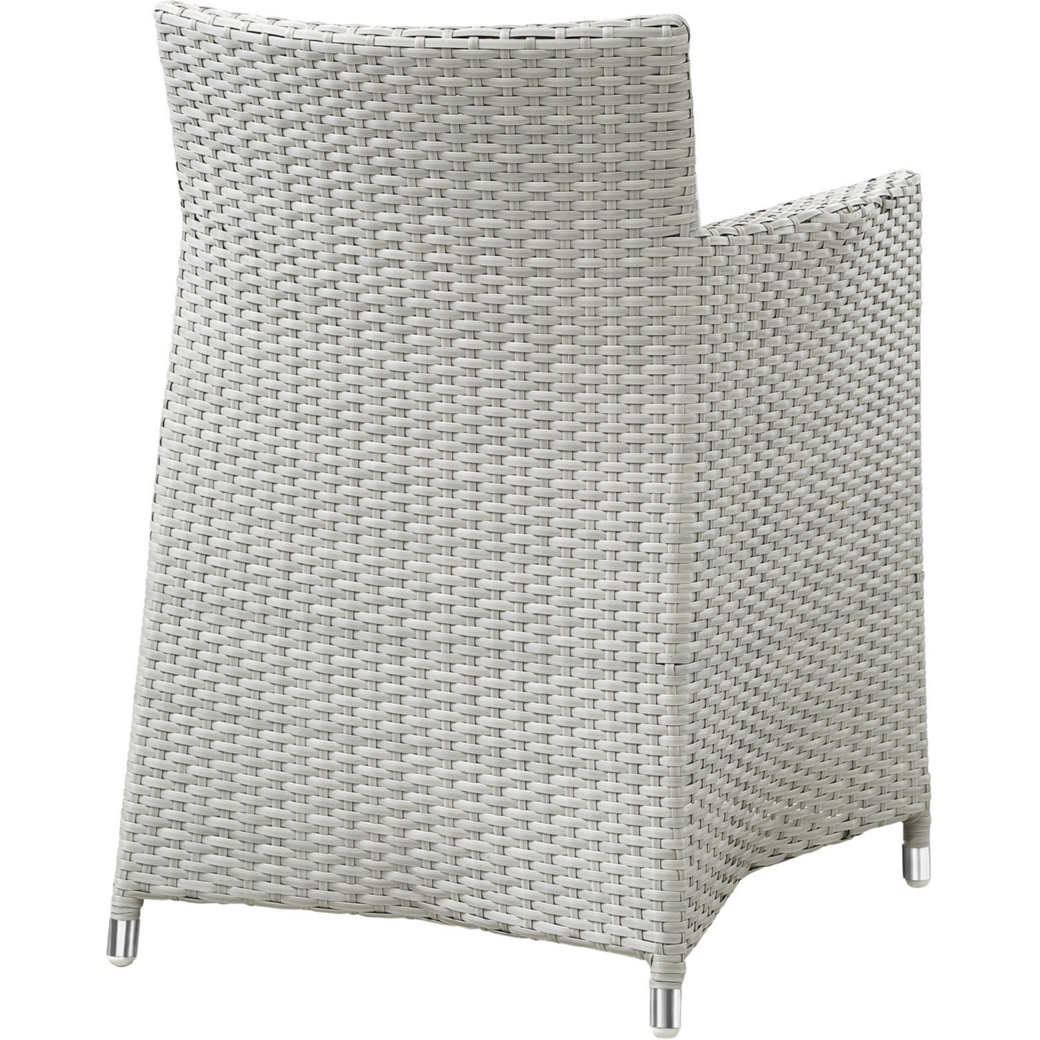 Modern 5-Piece Dining Set In Gray Rattan Weave - image-3