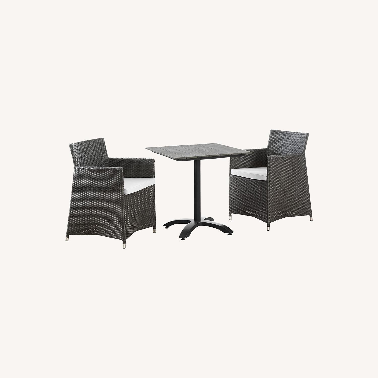 Modern 3-Piece Dining Set In Brown Rattan Weave - image-6