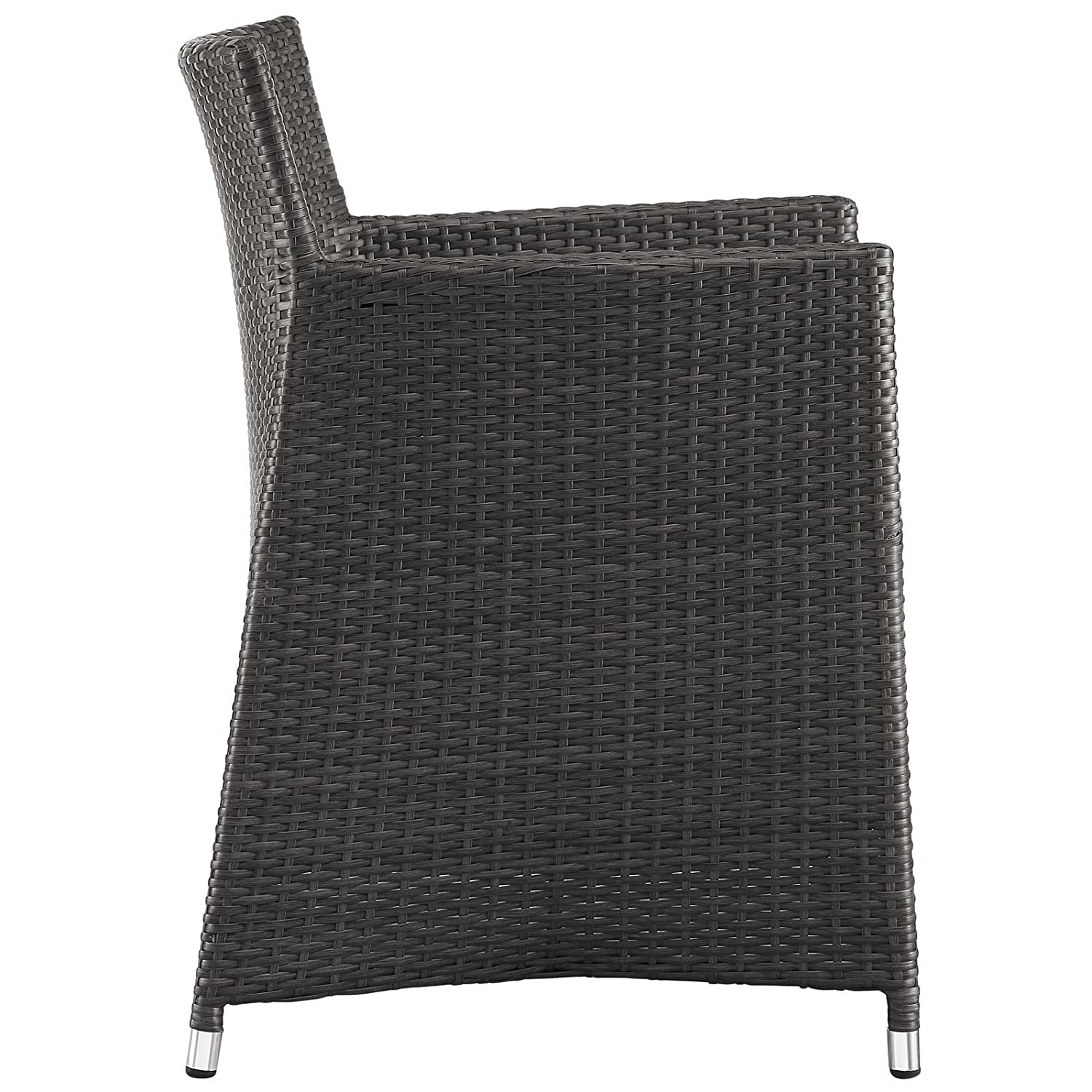 Modern 3-Piece Dining Set In Brown Rattan Weave - image-2