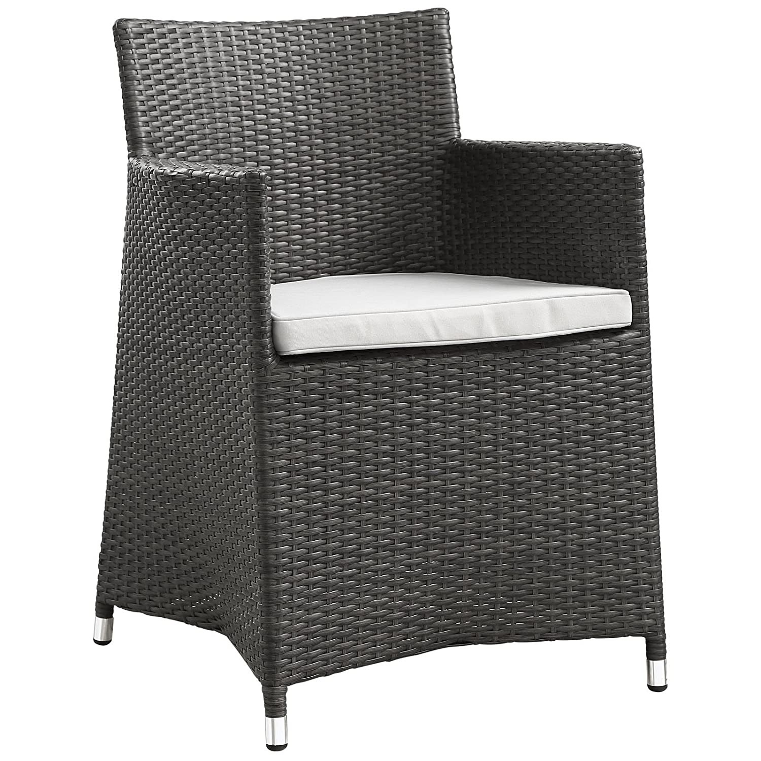 Modern 3-Piece Dining Set In Brown Rattan Weave - image-1