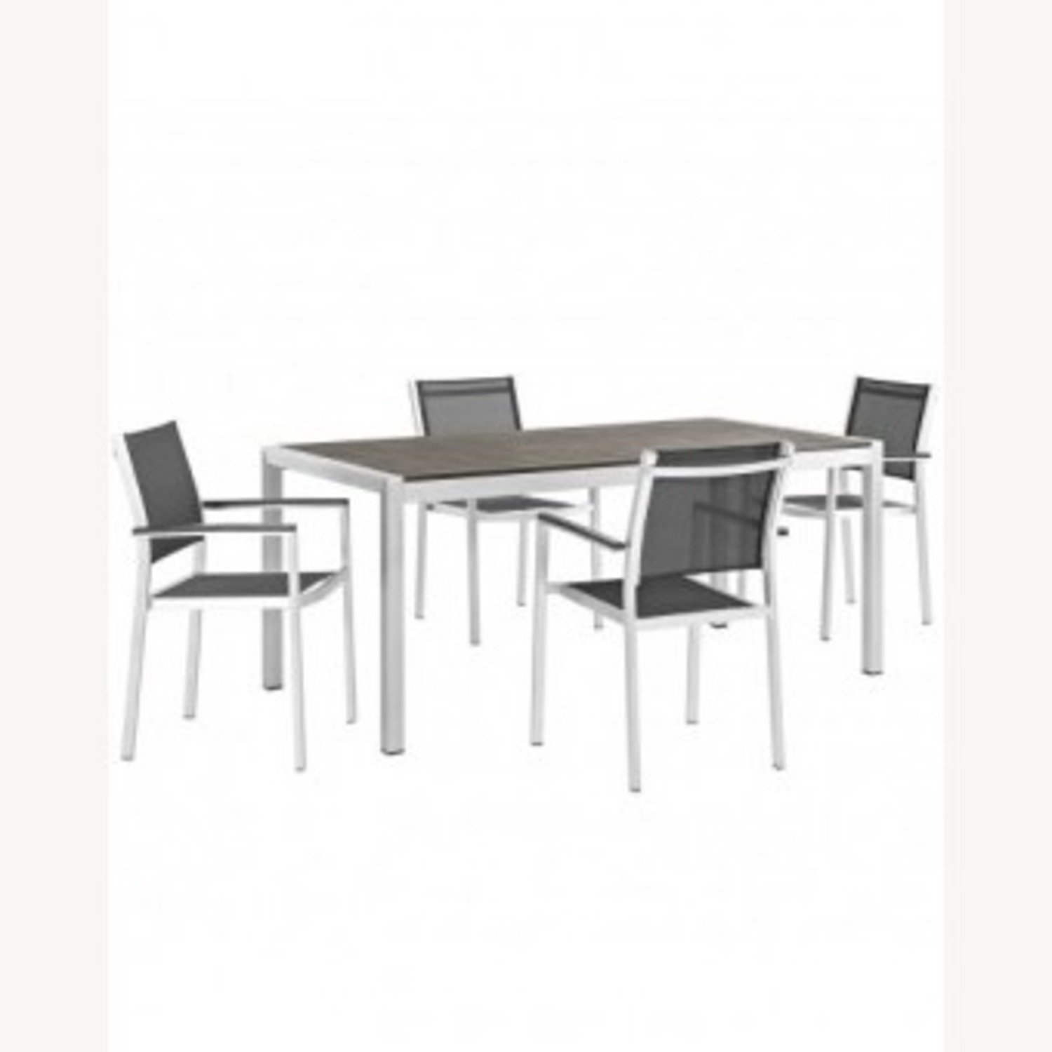 5-Piece Dining Set In Black Plastic Wood Accent - image-0