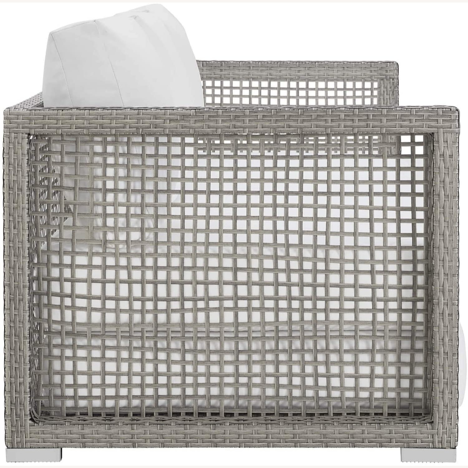 Outdoor Sofa In Gray Rattan Weave Finish - image-1