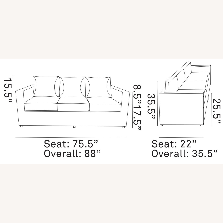 Outdoor Sofa In Beige Rattan & Espresso Cushion - image-5