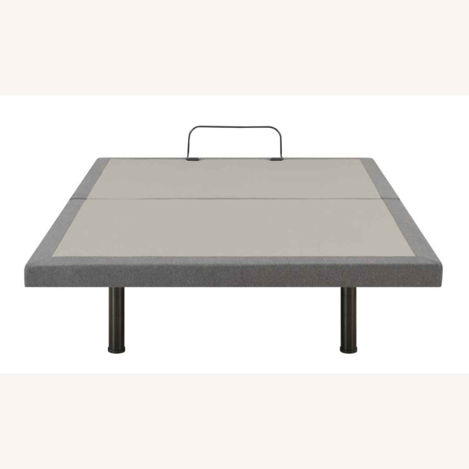 Adjustable Twin XL Bed Base In Grey Fabric - image-3