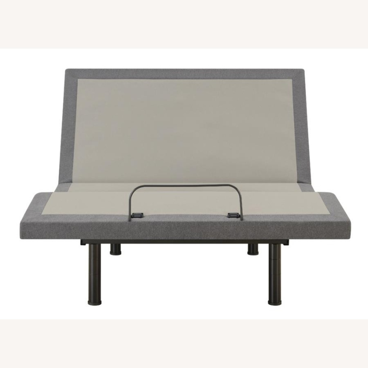 Adjustable Twin XL Bed Base In Grey Fabric - image-1