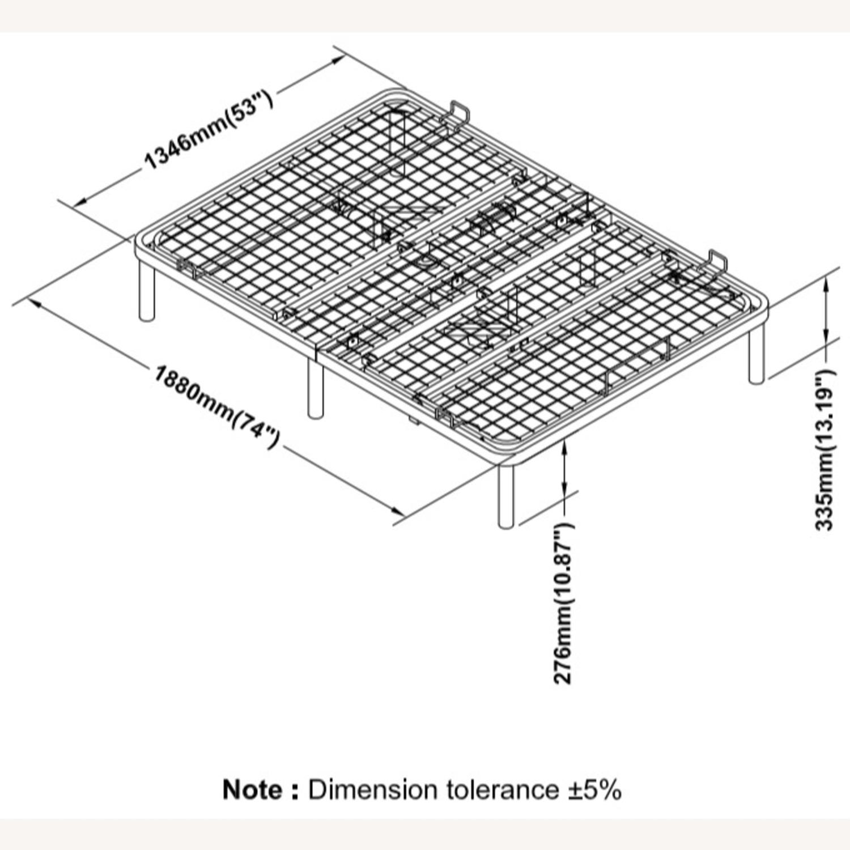 Adjustable Full Bed Base In Black Finish - image-2