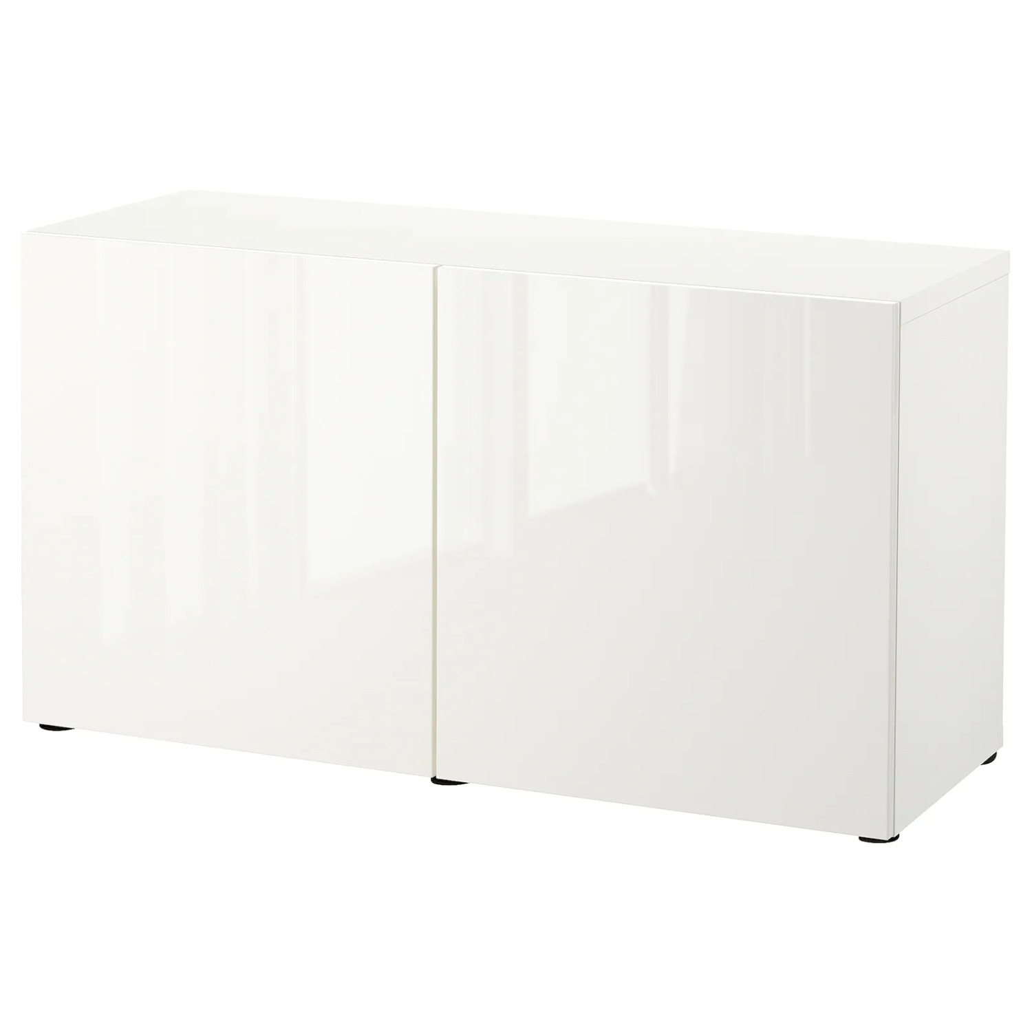IKEA Besta TV Stand with White Glass Top - image-2