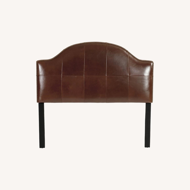 Ballard Design Leather Headboard - image-0