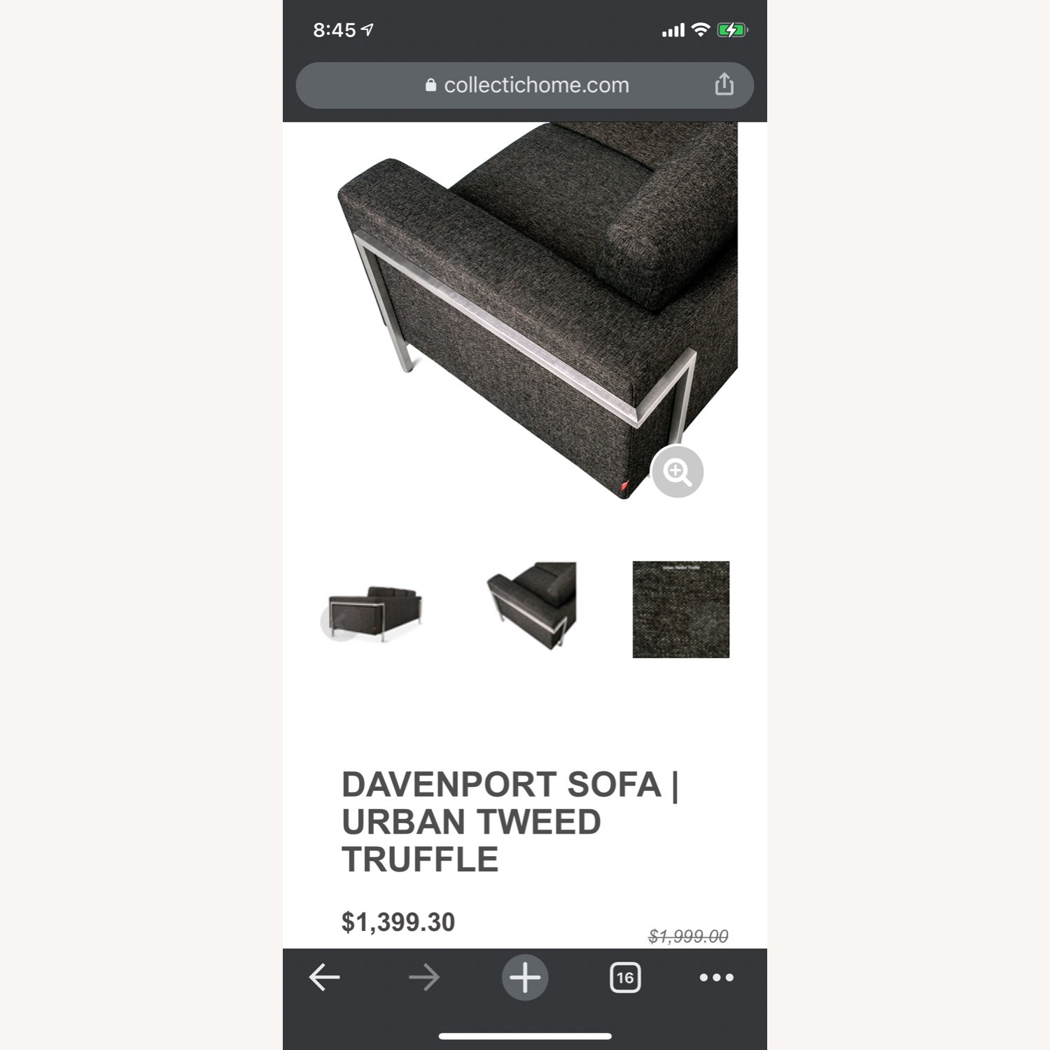 Gus Modern Gray Couch - image-13