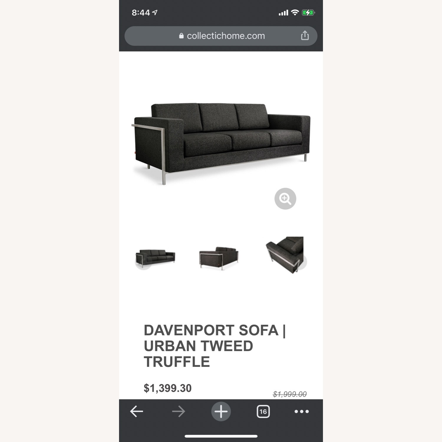 Gus Modern Gray Couch - image-11