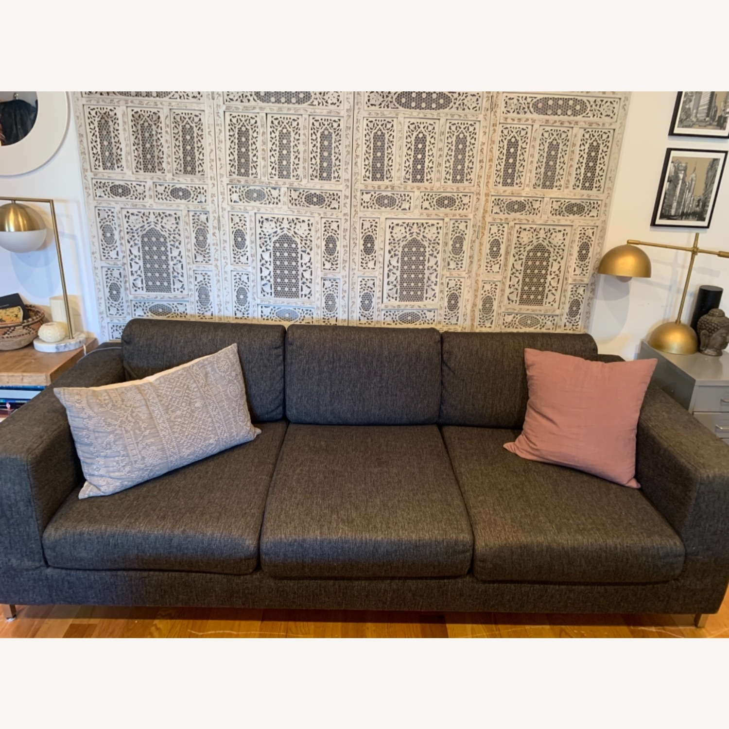Gus Modern Gray Couch - image-2